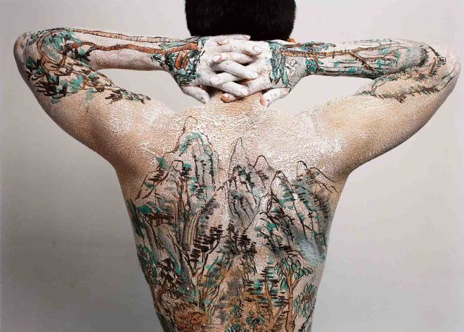 Huang Yan 黃岩, Chinese Shan-shui tattoo 13, 1999
