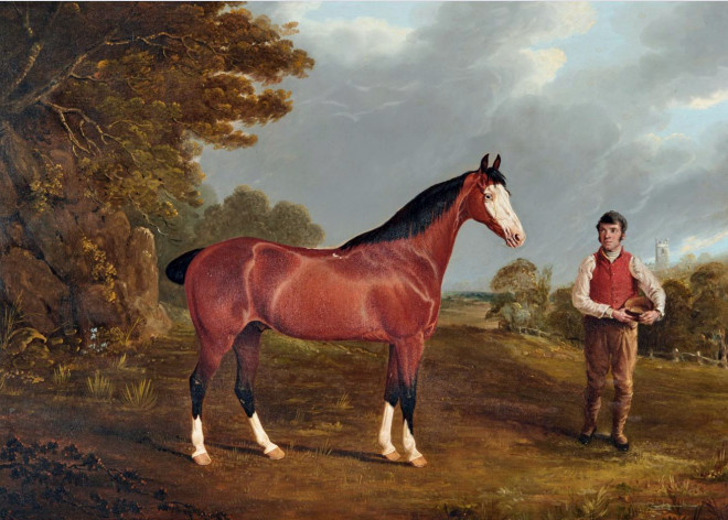 Whiteface and his groom John Gilham