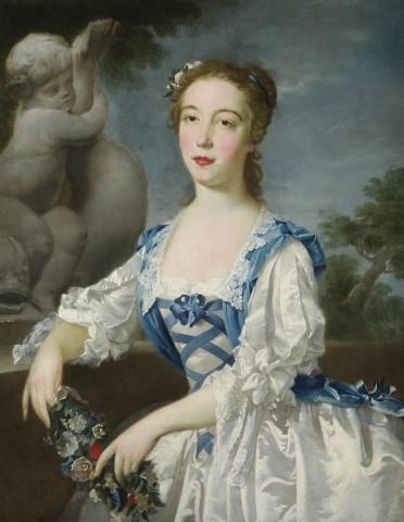 Bartholomew Dandridge, Portrait of a girl, perhaps the hon. Anne, eldest daughter of Sir Jacob de Bouverie, 1st Viscount Folkestone