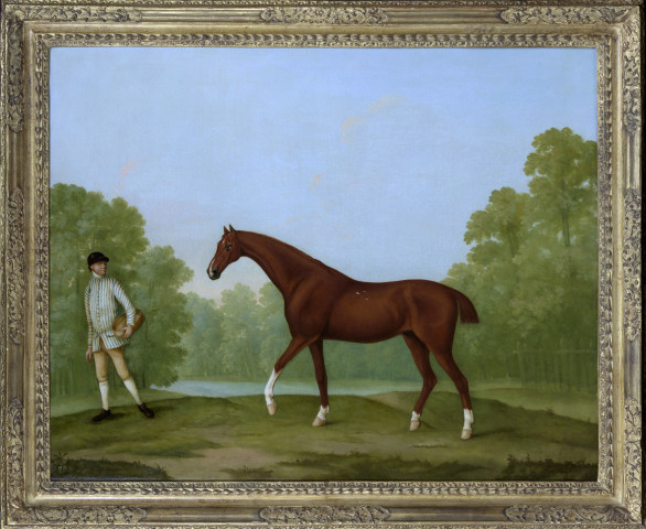 William Shaw, Sir Charles Bunburys racehorse 'Piggy' in a landscape, c.1765