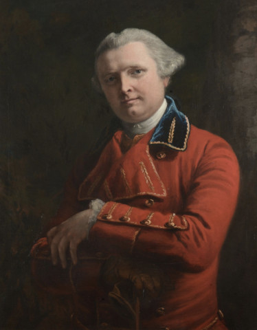 Portrait Dr John Gregory in a red coat