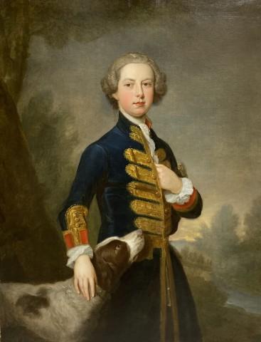 Bartholomew Dandridge, Portrait of a young gentleman, with his dog