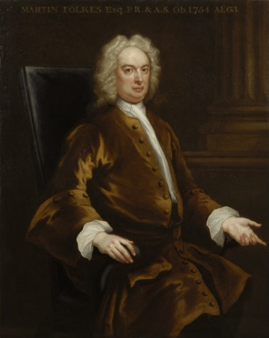 John Vanderbank, Portrait of Martin Folkes DCL, PRS, PSA (1690-1754)