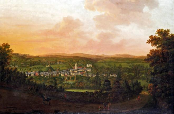 A panoramic prospect of Plympton, Devon