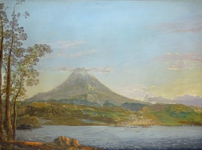 Agostino Aglio, A view over Mount Etna