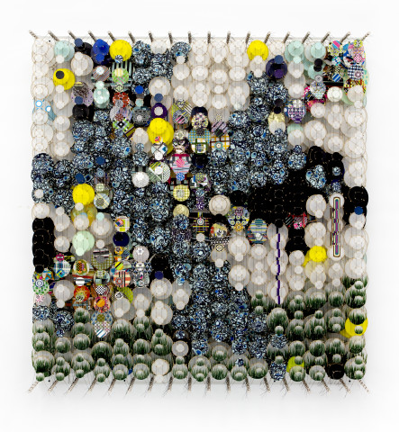 Jacob Hashimoto, Upside-down Rivers, Fractured Memory, and Semi-plausible Explanations, 2021