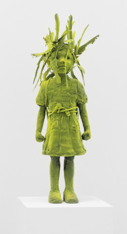 Moss Girl with Birdhouse