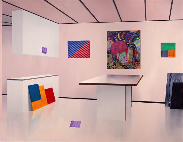 Sampo Apajalahti, Feucha On The Floor And Other Abstract Paintings, 2020