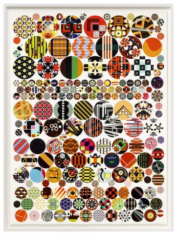 Jacob Hashimoto, History of the Perpetual Patterns of Sleep V, 2021