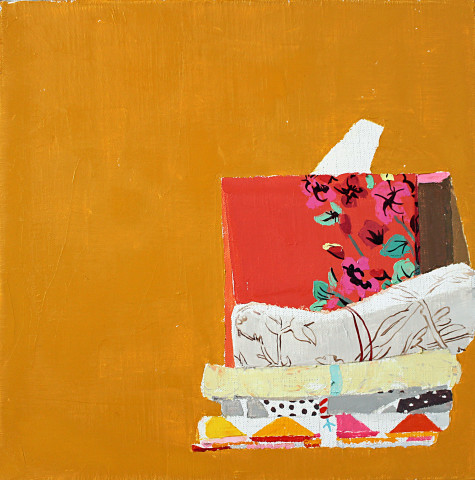 Still Life with Red Tissue Box