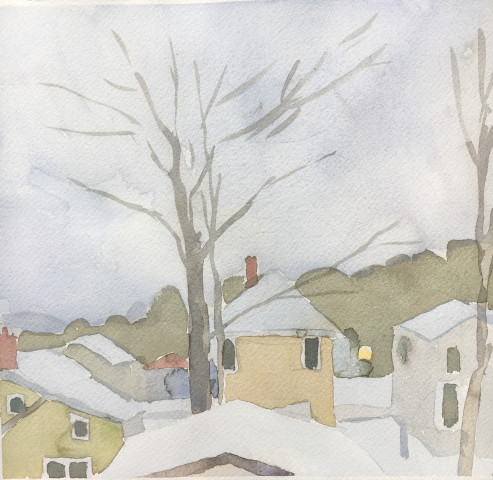 Sara MacCulloch, Winter Rooftops , 2017
