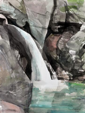 Bingham Falls, Field Painting
