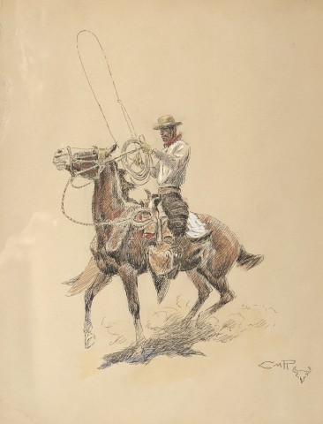 Center-Fire Man on a Bronc