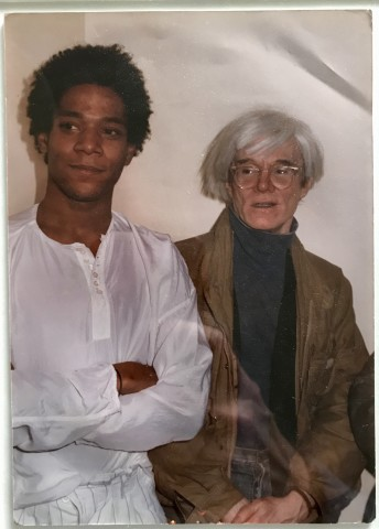 Portrait of Andy Warhol & Jean Michel Basquiat