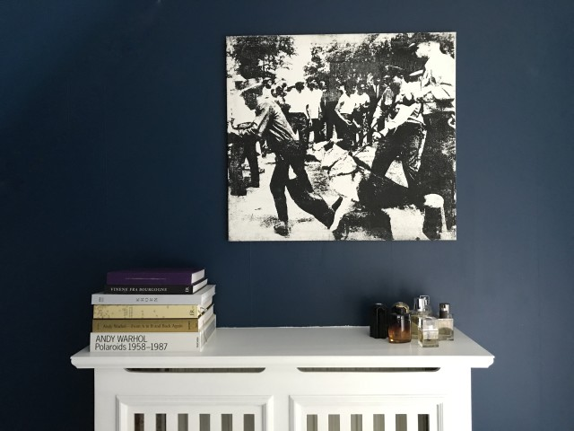 Little Race Riot, silkscreen ink on canvas. (Not for sale)