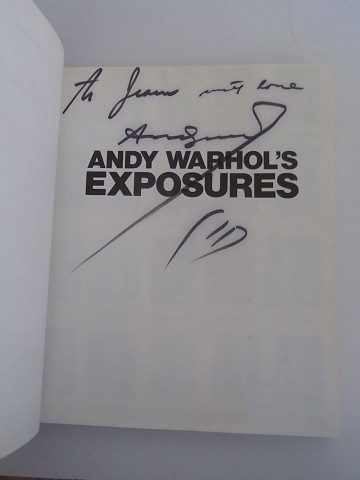 Exposures double signed by Warhol and Bob Colacello for Jean (Michel basquiat)