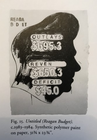 Andy Warhol, Untitled (Reagan Budget), 1983/84