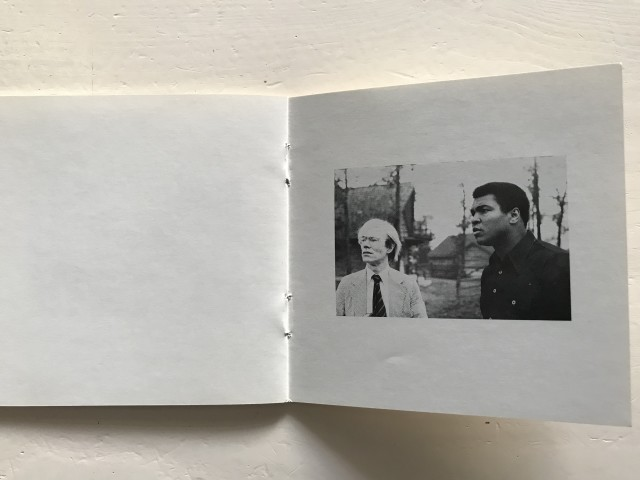 Unique photo of Andy Warhol and Muhammad Ali