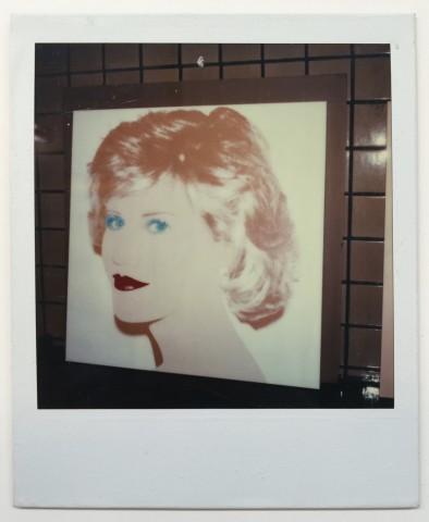 Andy Warhol, Unique polaroid of Jane Fonda painting vers. 2