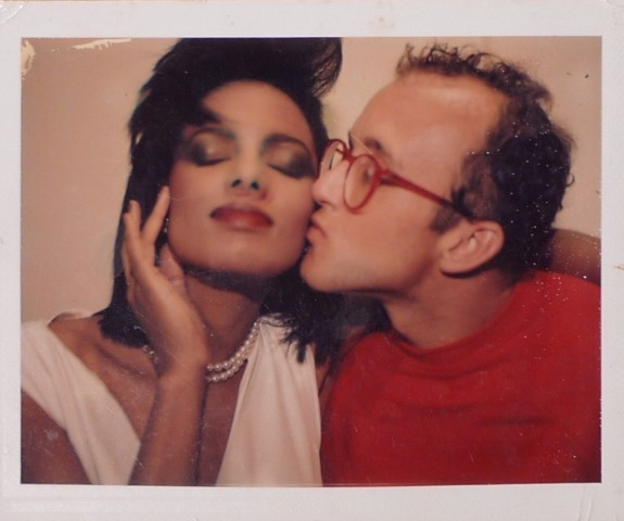 Portrait of Keith Haring with model