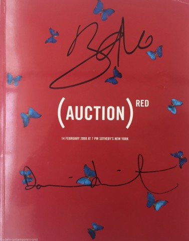 %22Red Auction Catalogue signed by Bono and Hirst%22