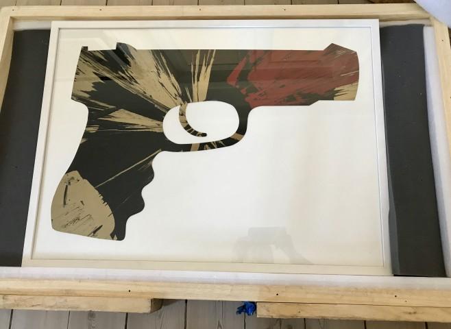 %22Gun Spin Painting%22