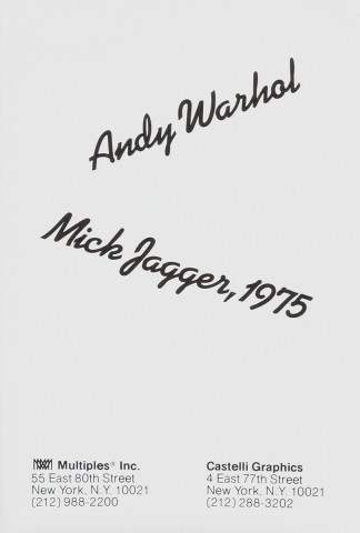 Mick Jagger mini folios. First with no printed signatures