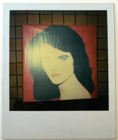Unique polaroid portrait of maria Shriver (Red version)