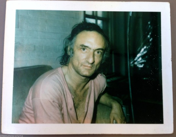 Unique polaroid portrait of artist Larry Rivers