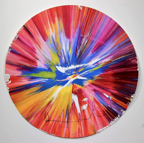 %22Circle Spin Painting%22 Signed.