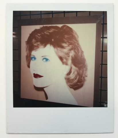 Unique polaroid of Jane Fonda painting vers. 1