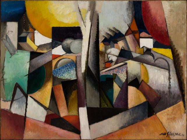 Albert GLEIZES, Paysage cubiste, Arbre et fleuve (Cubist Landscape, Tree and river), 1914