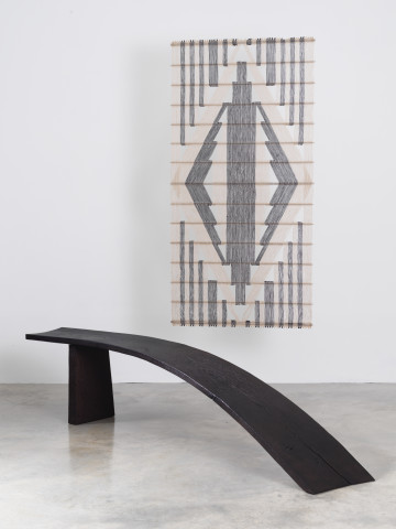 Light Curved Bench