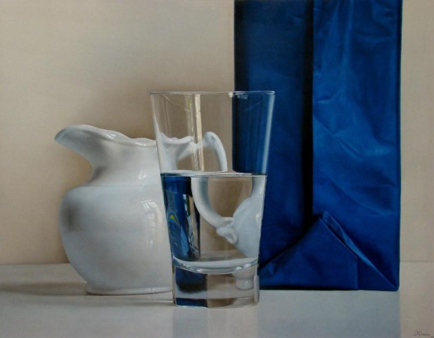 Blue, White and Glass