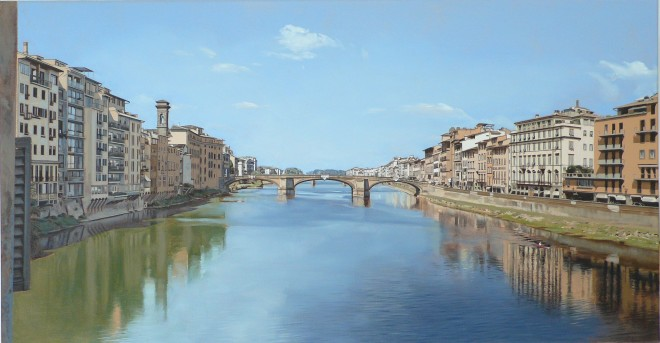 View of the River Arno from Ponte Vecchio Bridge, Florence