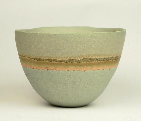 Blue-Pink 'Flower Lines' Bowl