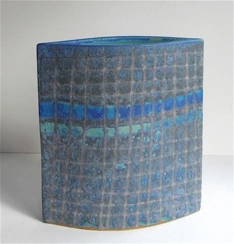 Sarah Perry, Blue/Mauve Grid Ellipse, 2020