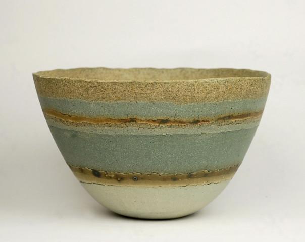 Blue 'Sea Lines' Bowl