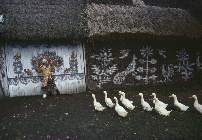 Bruno Barbey, Folk Art in Zalipie, near Tarnów, Poland, 1976