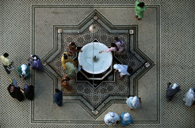 Bruno Barbey, Courtyard of Moulay Idriss' Zaouia, Fes, Morocco, 1983