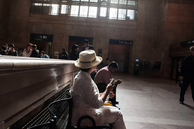 Larry Towell, Union Station, Toronto, Canada [Commuter in the historical Great Hall], 2013