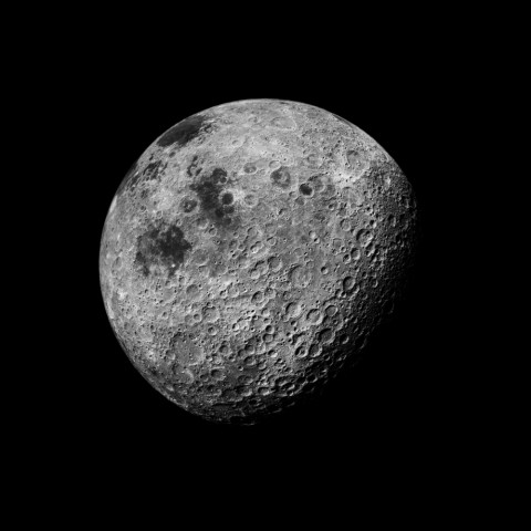 Michael Light, The Moon Seen from 1000 miles, Showing Farside Highlands; Photographed by Kenneth Mattingly, Apollo 16, April 26-27, 1972, 1999