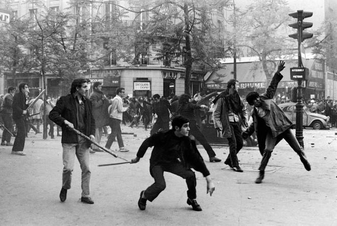 Bruno Barbey, Boulevard Saint-Germain, Paris, France, May 6th, 1968