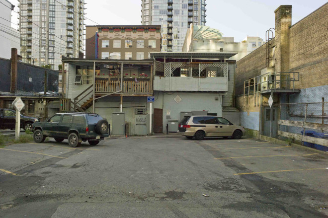 Geoffrey James, Behind Granville Street, Vancouver, British Columbia., 2015