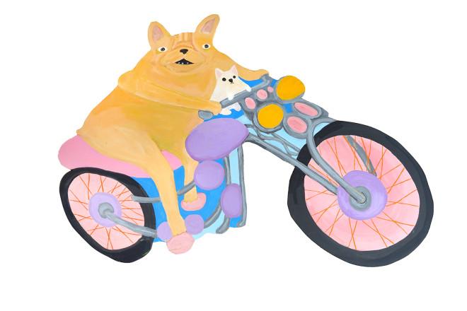 Katie Kimmel, Motorcycle Dogs, 2019