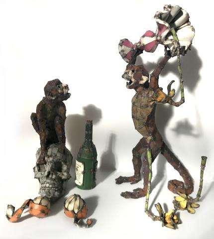 Hannah Kidd, Still Life With Monkeys, 2017