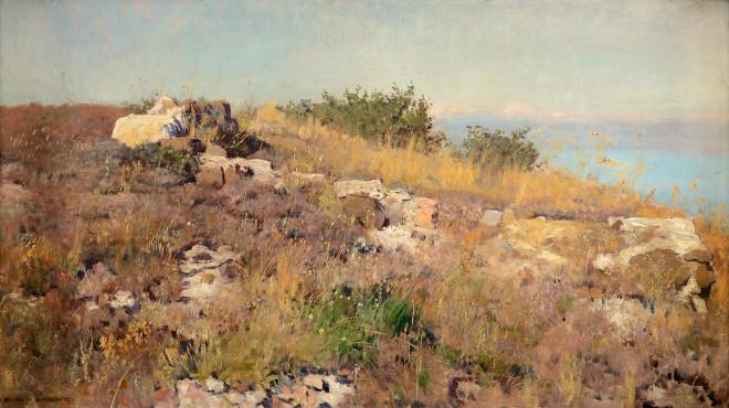 Stony ridge on the Mediterranean