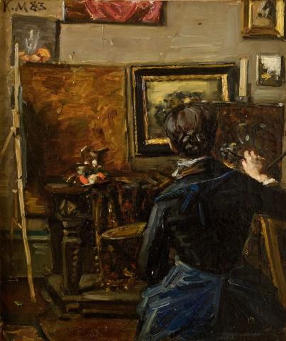 Anna Ancher at work