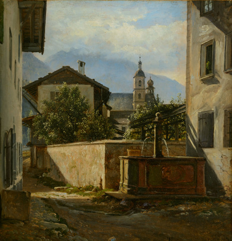 Little square in Berchtesgaden