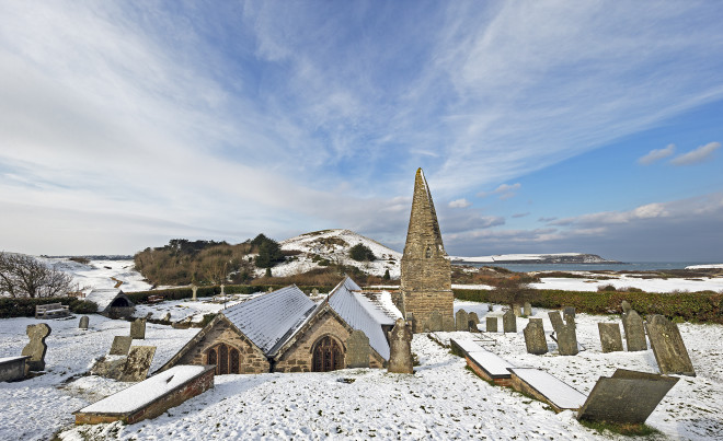 Nick Wapshott, St Enodoc Snow